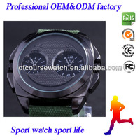 V-6 Military Watch Analog Fabric Strap Sports Watches Multiple Time Zone 3colors wristwatches alibaba express wholesale