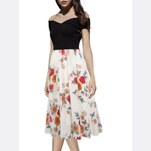 Best selling new fashion printing european nice design casual ladies dress