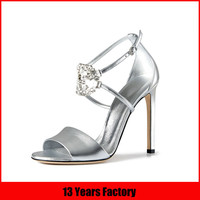 silver wedding shoes/crystal wedding shoes/jeweled wedding shoes