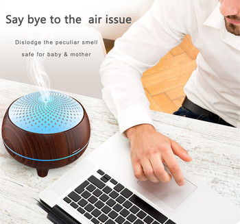 China shenzhen hidly supply 300ml wood grain portable hepa air essential oil purifier machine with reasonable price