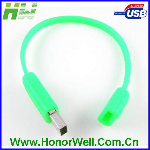 Lover gift silicone usb pen drive bracelet for customized logo accept paypal.