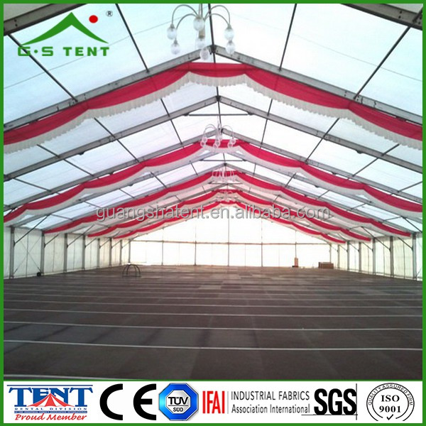 custom made house shaped church tents with curtains decoration