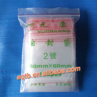 packaging ldpe transparent zip lock plastic bags