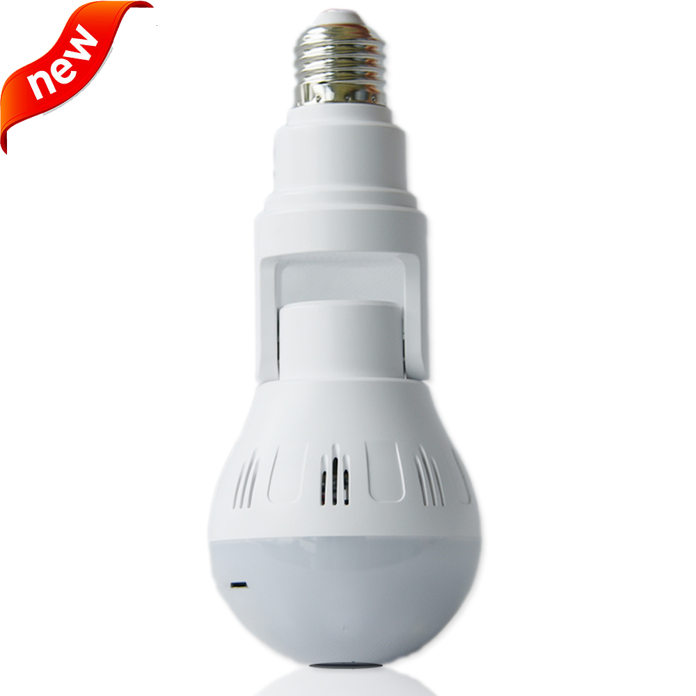 NEW <strong>H</strong>.265 5MP CCTV Smart Home V380 Security 360 VR WiFi IP Camera indoor ip network Night Vision audio Hidden <strong>Bulb</strong> Lamp Camera