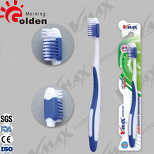 FDA approved flexible rubber handle massage adult toothbrush