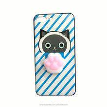 Best selling finger pinch 3D kneading japan squishy cute cartoon animal phone case