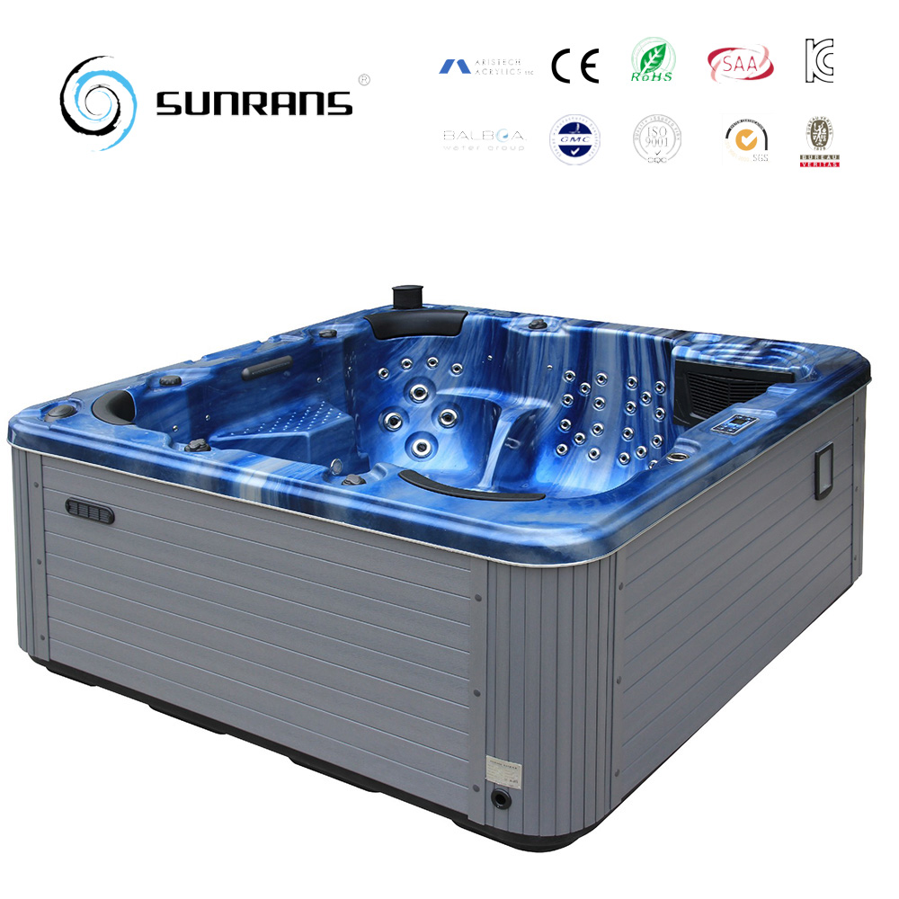 Best Selling 5 Persons Hot Tubs With TV Fountain LED Lights Freestanding  Hot Tubs SPA Hot Tube Spa
