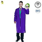 deluxe halloween carnival party costume for adult mens clown outfit professional circus clown fancy dress with purple coat