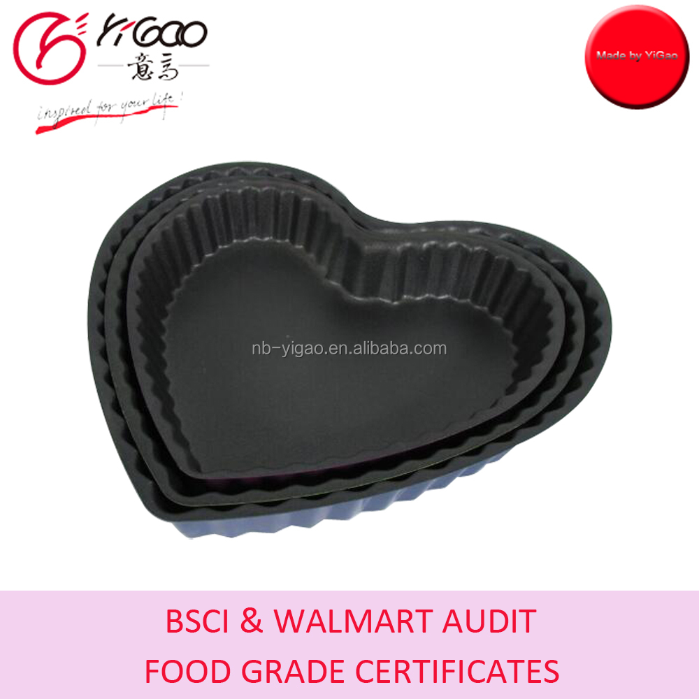 BPA free non stick carbon steel pie baking pan - heart,square,round,long rectangle shape