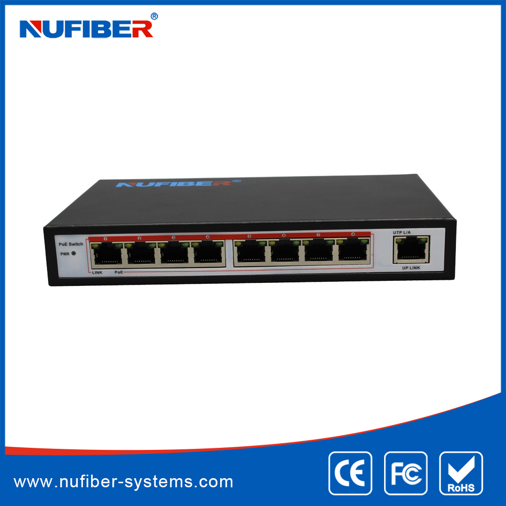 Full-Duplex & Half-Duplex Communication Mode and 10/100Mbps Transmission Rate Powe over Ethernet POE Switch