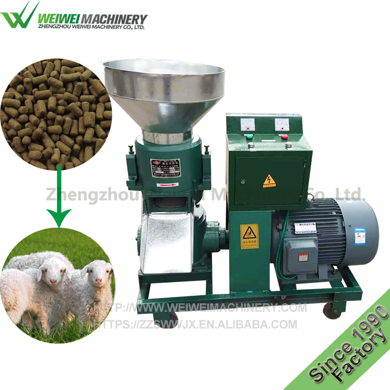 Weiwei machinery poultry feed manufacturing process flow chart granulator machine