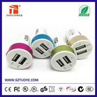 CE FCC Approved Wholesales Cheap price 5v 2.1a dual usb car charger for mobile phone