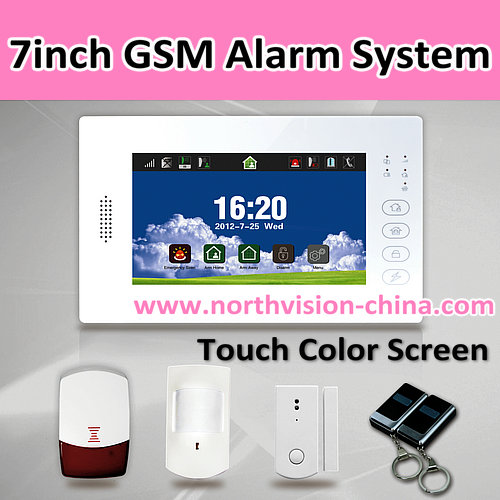 Gsm smart alarm, supporting max 8 wireless remote controllers