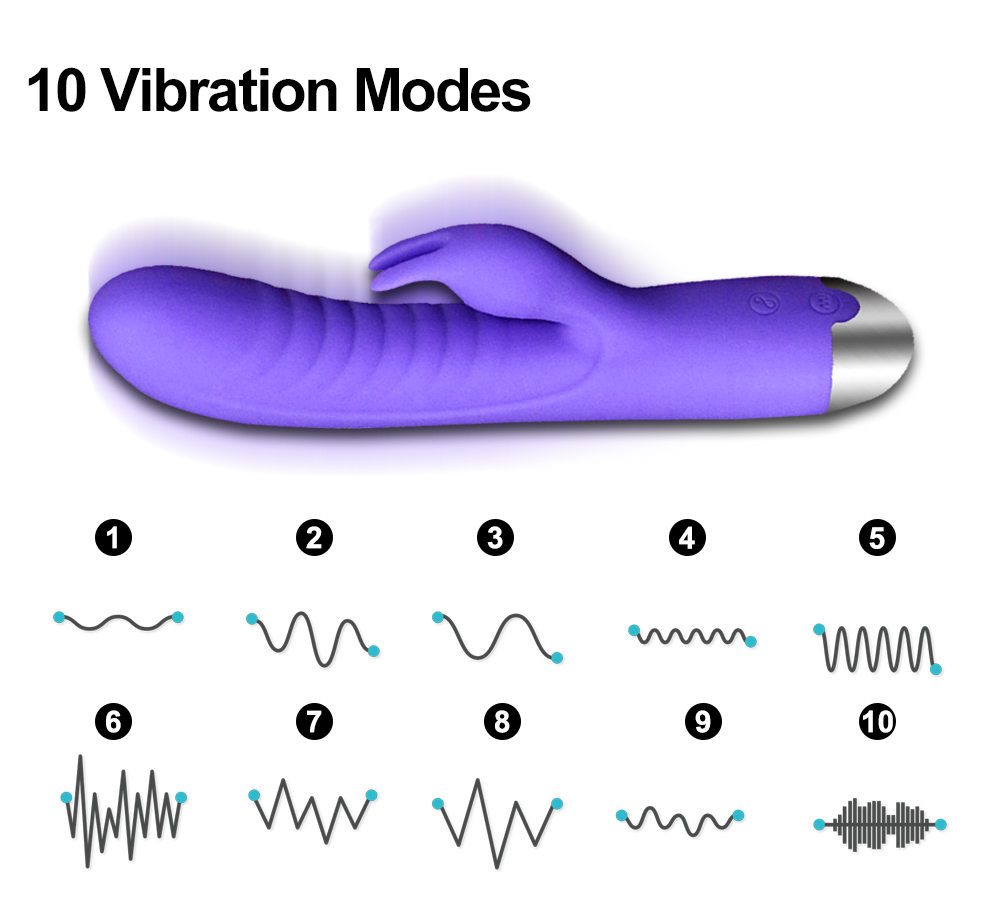 G Spot Dildo Rabbit silicone Vibrator for Women Dual Vibration Waterproof Female Vagina Clitoris Massager Sex toy
