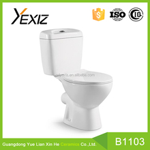 B1103 Middle East design cheap ceramic bathroom two piece toilet