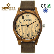 sustainable style All Zebrawood Handcrafted Minimilast Real Wood Watches
