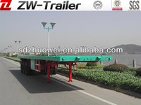 Lowest price 40ft 3 axles flatbed trailer with container lock/container trailer/high bed semi-trailer for sale