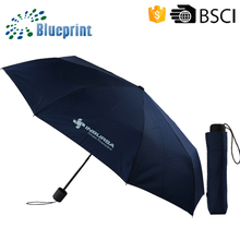 21 Inches Custom Umbrella Standard Size 3 Folded Umbrella