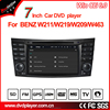 hla 8797 7 Inch Wince 6.0 Dash Car DVD Player Stereo Touch Screen GPS Navigation for ben z e/cls/clk/g