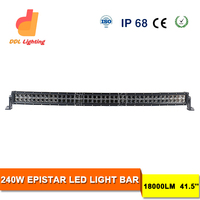 41.5 inch 240w 4x4 led car light,straight 12 volt led light bar off road,auto led light arch bent