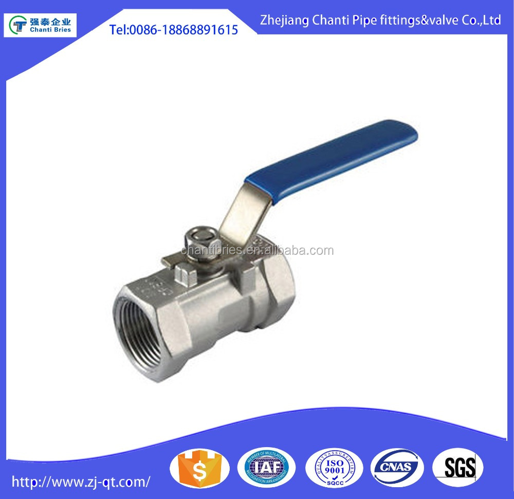 High Quality One Piece Stainless Steel 316l Threaded DN25 ball valve