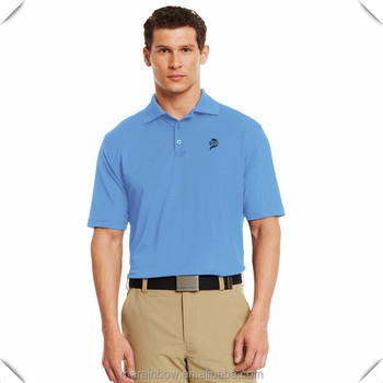 95% Polyester 5% Elastane Dry Fit Golf Shirts Wholesale Casual Plain Polo Shirts Loose Fit Golf Shirt