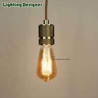 ST64 Edison bulb LED filament 6W led light bulb amber color 220/240v E27 base replace 60W incandescent bulb