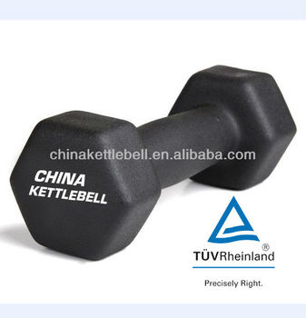 neoprene vinyl deeping coated dumbbell