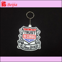 Dongguan beijia Custom 3d soft pvc keychain key chain / Soft Rubber rubber motorcycle keyrings / Silicone Keyring