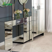 modern fashion Venetian vintage Mirrored 7 Drawer Dressing Table