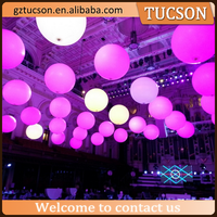 large party inflatable led balloon, air concert balls, ceiling event balloons for sale