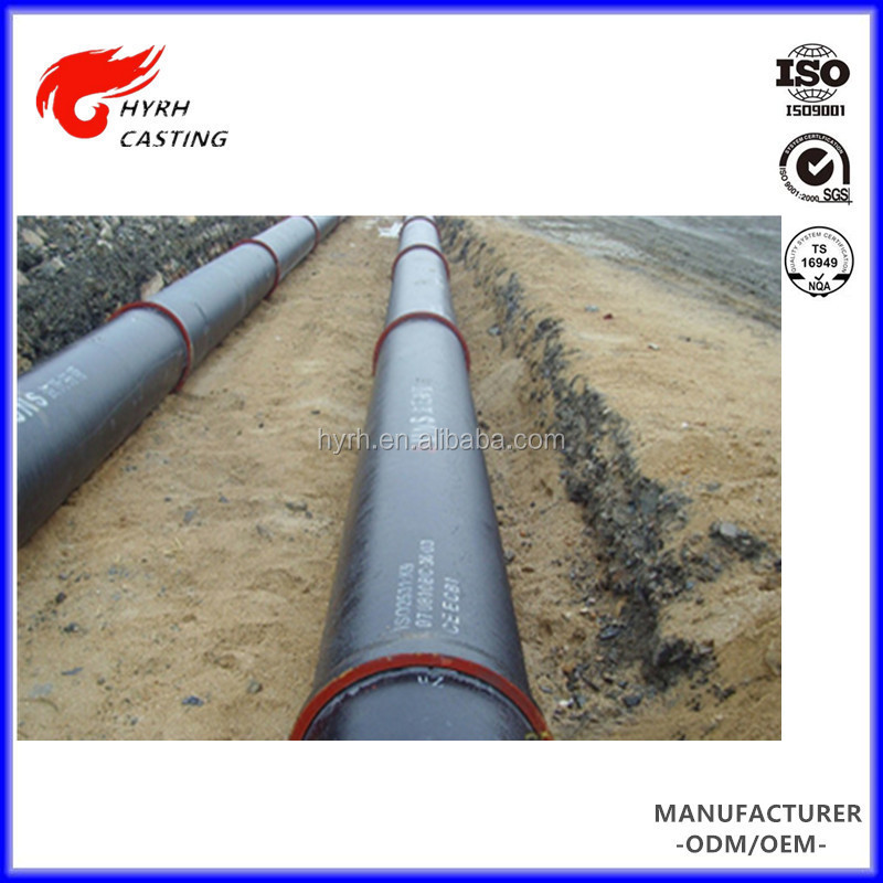 China HYRH casting factory ductile cast iron pipe specifications