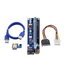 2017 Factory Supply USB 3.0 cable 4 pin molex to SATA power cable pci extender pci-e 1x to 16x riser card