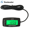 BACKLIGHT Lead acid storage battery GEL AGM Voltmeter battery indicator FOR Motorcycle ATV Tractor MARINE boat car