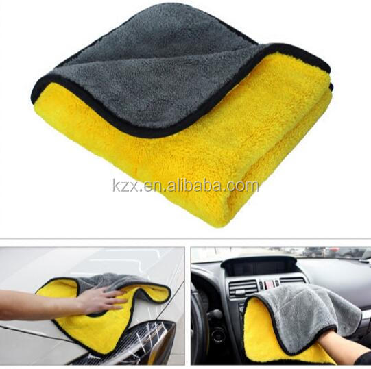 2017 hot sale multifunction microfiber coral fleece cleaning towel for kitchen towel car polishing cloth