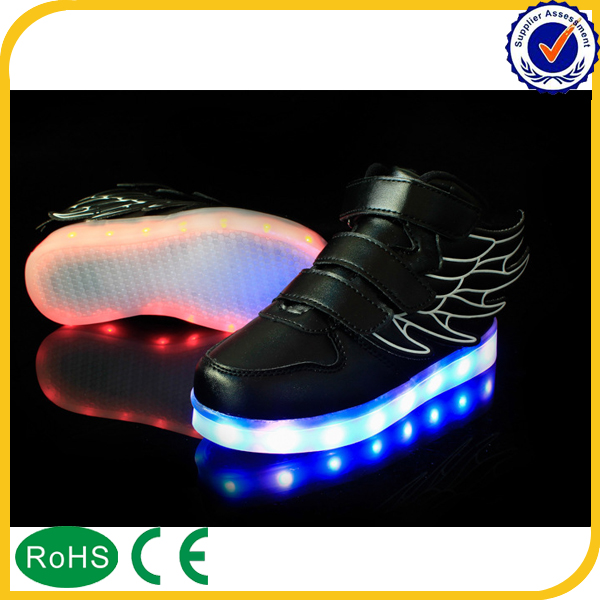 casual changeable color led shoes for kids