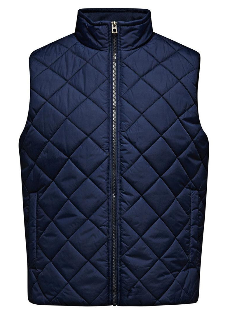 High Collar Cheap Mens Quilted Vest