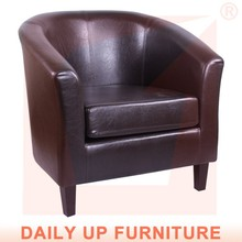 Classical PU Sectional Sofa with Armrest Living Room Leather Sofa Luxury Furniture Office Classical One Seat Lounge