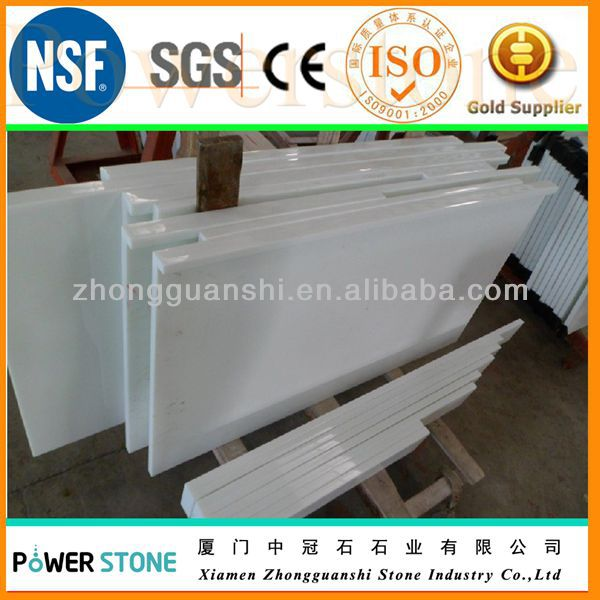 White Artificial Stone Raised Floor Stone