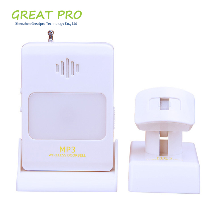 Greatpro MP3 music Wireless Door Chime 32 Melody AC Wireless Door Bell Waterproof Digital Wireless Doorbell