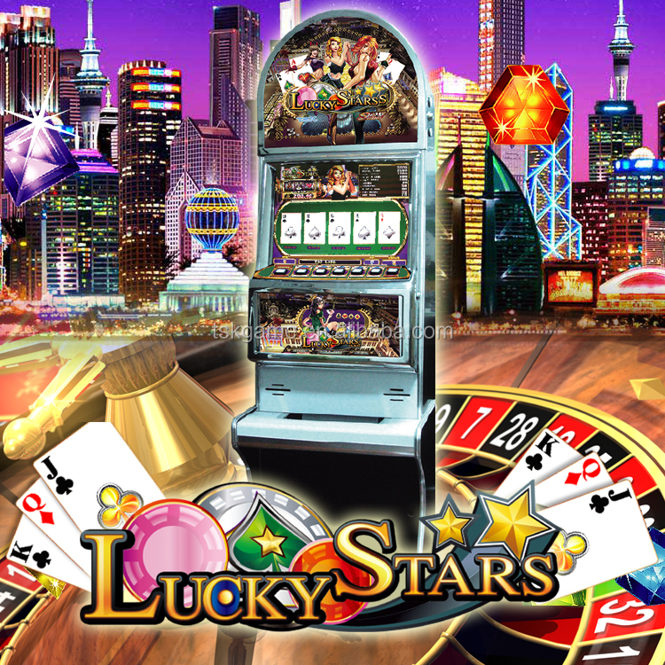 Lucky Star :TSK taiwan arcade video poker slot game machine