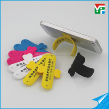 Mobile phone support stand holder slap wristband silicone cell phone stand