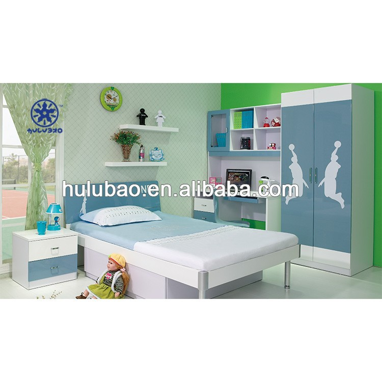 NBA basketball dongguan modern kids bedroom set furniture for boys 3310#