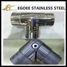EGOEE 3 way pipe connector stainless steel round tube connectors 25mm