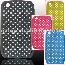 Five-pointed star cell phone case for black berry carve 8520