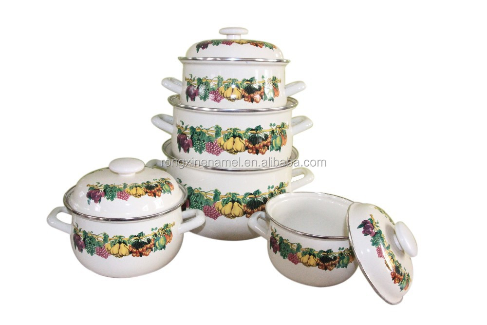 cooking pot enamel casserole set cookware enamelware stew pot