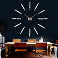 Home decoration large digital wall clock Modern design clock ,big decorative sticker wall clocks wall watches unique gift