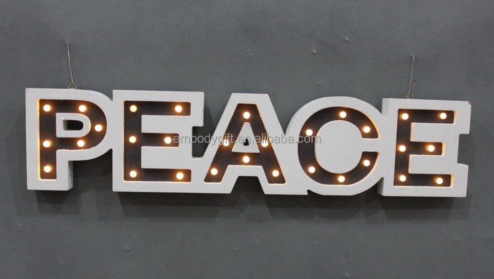 Wholesale cheap large wooden channel letter sign display with LED