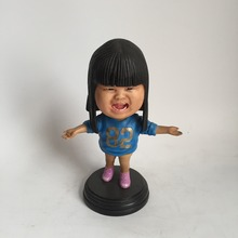 make your own custom design figurine resin bobble head dolls for decoration
