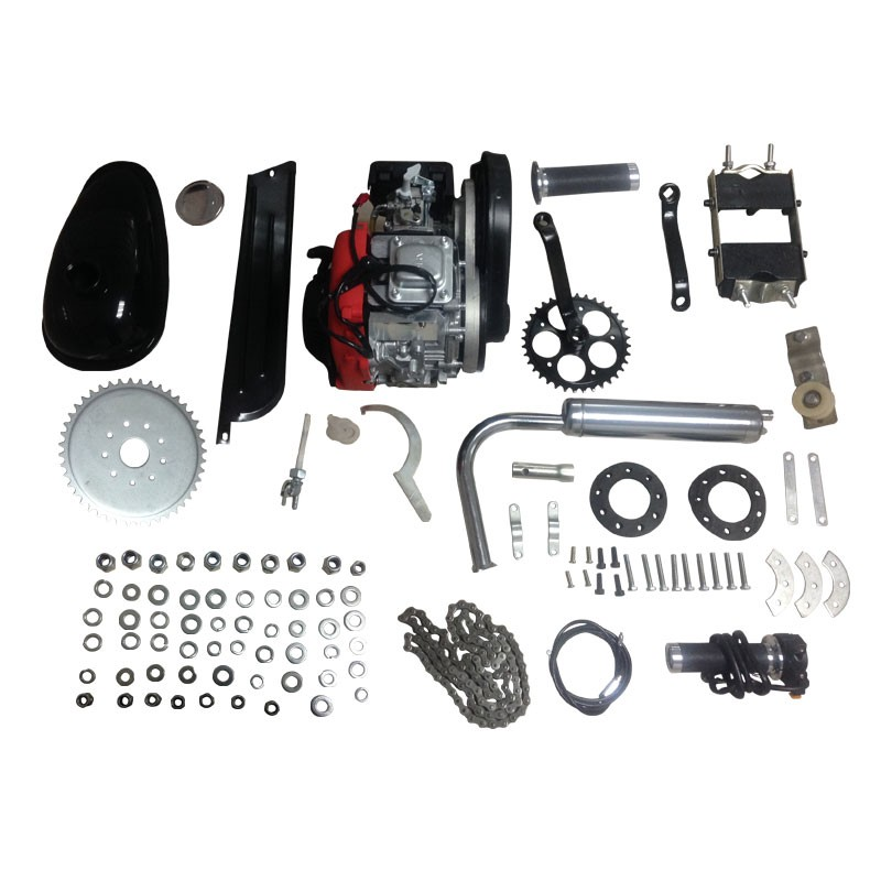 Silver 49cc 4 stroke single cylinder Touring bicycle engine parts motorized trike bicycle in stock